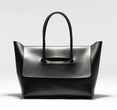 Size + Fit: - Soft structured, flap cover - Bottom length: / - Top length: / - Width: / - Height: / Content + Care: - Leather, suede - Spot clean only - Black Leather Handbags, Leather Purses, Leather Bags, Shoulder Handbags, Shoulder Bags, Beautiful Bags, My Bags, Purses And Handbags, Fashion Bags