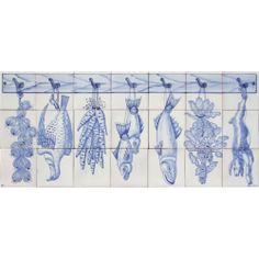 Portuguese Clay Tiles Panel CORREIO MOR KITCHEN PIECES