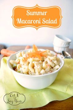 Summer Macaroni Salad - A refreshing and delicious summer side dish! {The Love Nerds}
