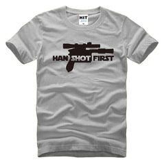 Star Wars Han Shot First Horizontal T-Shirt