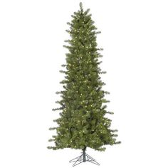 7.5′ Pre-Lit Slim Ontario Spruce Artificial Christmas Tree-Warm White LED Lights  http://www.fivedollarmarket.com/7-5-pre-lit-slim-ontario-spruce-artificial-christmas-tree-warm-white-led-lights/