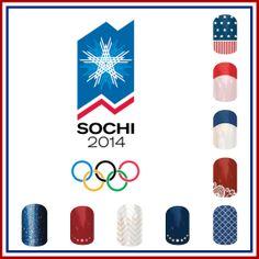 Jamberry Nails Olympic Nail Art www.heatherjo.jamberrynails.net
