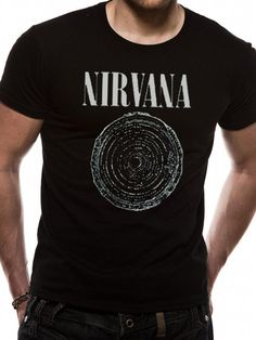 Nirvana T Shirt Vestible Officially Licensed Mens Black Tee Kurt Cobain  Grunge 2140a7c8d8