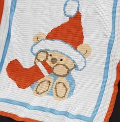 Crochet Pattern | Baby Blanket / Afghan - Christmas Bear                                                                                                                                                      More