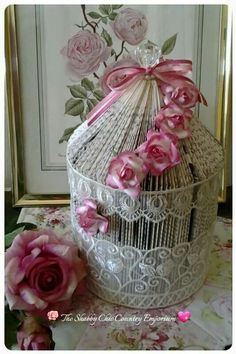 Folded Book Birdcage by The Shabby Chic Country Emporium Old Book Crafts, Book Page Crafts, Book Page Art, Tracher Gifts, Paper Art, Paper Crafts, Cut Paper, Book Sculpture, Paper Sculptures