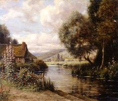 Louis Aston Knight - Cottage at Launay.