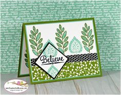 Stampin Up Lighthearted Leaves, card by Sandi @ stampinwithsandi.ca for Stamping and Blogging Sketch #118
