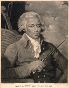 """Joseph Boulogne, Chevalier de Saint-George (at times erroneously spelled Saint-Georges) (December 25, 1745 – June 10, 1799) was an important figure in the Paris musical scene in the second half of the 18th century as composer, conductor, and violinist. Prior to the revolution in France, he was also famous as a swordsman and equestrian. Known as the """"black Mozart"""", he was one of the earliest musicians of the European classical type known to have African ancestry."""