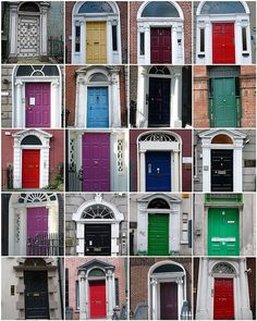 Dublin doors- I remember hearing a story about the people being so drunk that they would paint their doors different colors to remember which house was their's