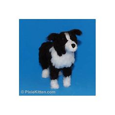Bailey the Border Collie can be made with the instructions contained in this pattern. The Border Collie is six inches tall and eight inches from nose to tail.