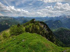 Pretty view over the Eastern Alps in Austria. Lammertal, Austria. In the background mount Dachstein by Burtn