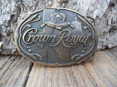Crown Royal Solid Brass Belt Buckle by PoisonPuddingFaire on Etsy