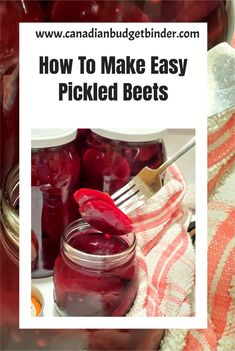 Pickled beets also known as beetroots are easy to make and inexpensive. I show you step by step how to make pickled beets and what you can do with your beet greens. Easy Pickled Beets and you have all of the control of the flavours. Budget Recipes, Budget Meals, Pickled Beets, Coriander Seeds, Pickles, Make It Simple, Canning, Easy, How To Make