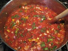 Thick and Chunky Homemade Salsa. notes: use canned tomatoes with green chile for shortcut.