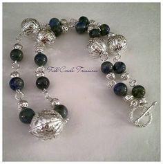 Lapis and silver filigree necklace boho by FullCircleTreasures