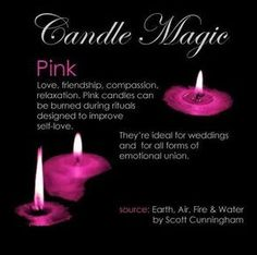 Pink Candle Magick – Witches Of The Craft® Magick Spells, Candle Spells, Wicca Witchcraft, Bougie Rose, Reiki, Candle Meaning, Color Magic, Color Meanings, Pink Candles