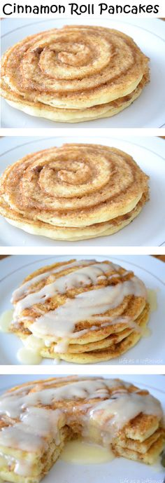 Recipe Sharing Community: Cinnamon Roll Pancakes OMG I want to eat these soooooo bad! Breakfast Dishes, Breakfast Recipes, Pancake Recipes, Breakfast Pancakes, Breakfast Time, Homade Pancakes Recipe, Yummy Breakfast Ideas, Pancake Ideas, Best Pancake Recipe