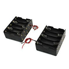 2 Pcs Black Plastic Battery Holder Case 10 x 1.5V AA. Battery Type : 10 x 1.5 V AAA (not be included);Color : Black. Body Size : 7.7 x 5.7 x 2.9cm/3.0. x 2.2. x 1.1.L*W*H.;Cable Length( Each ) : 15.5cm/6.1. Net Weight : 55g. This battery box holder with wire connector, fit for 10 x 1.5 V AA batteries. With spring clip design, you can easily put the battery in it. Battery is not included here. Product Name : Battery Holder;Material : Plastic, Metal. Package Content : 2 x 1.5V Battery...
