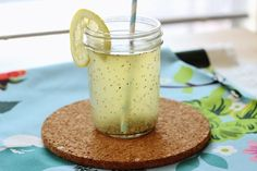 Refreshing Chia Lemonade gives you an afternoon boost without the sugar crash.