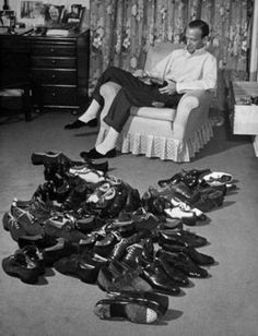 Fred Astaire and his dancing shoes.