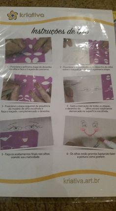 Veja nosso novo produto Gabarito de olhos e bocas para bonecas  - Ateliê Balaio de Gatos! Se gostar, pode nos ajudar pinando-o em algum de seus painéis :)
