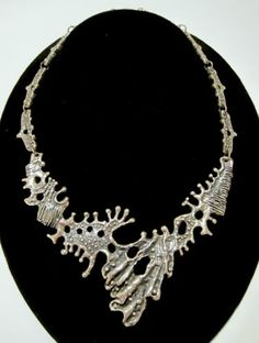 Guy Vidal brutalist necklace