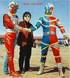 kikaida and kikaida 01 with creator Ishinomori Shotaro