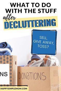 Decluttering? What do you do with all your stuff. Explore if you should sell your stuff for cash, donate it or toss it. #clutter #declutter #organize #cleanup Bedroom Organisation, Kitchen Organisation, Life Organization, Getting Rid Of Clutter, Getting Organized, Organizing Your Home, Organizing Ideas, Sell Your Stuff, Declutter Your Life