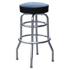 Double-Ring Bar Stool