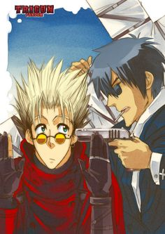 Tags: Anime, Trigun, Vash the Stampede, Nicholas D. Wolfwood, AnHellica