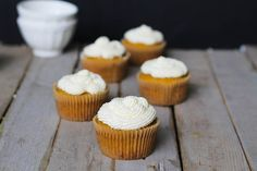 """Very Vanilla Cupcakes {using coconut flour}    (These were okay for paleo cupcakes....but they were amazing for """"cornbread"""" - eat warm spread with butter and honey and they go perfectly with chili or soup!)"""