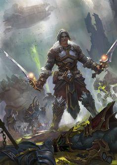 Varian Wrynn - World of Warcraft on DeviantArt 3d Fantasy, Fantasy Armor, Fantasy World, Final Fantasy, World Of Warcraft Game, Warcraft Art, Warcraft Heroes, Wow Of Warcraft, World Of Warcraft Characters