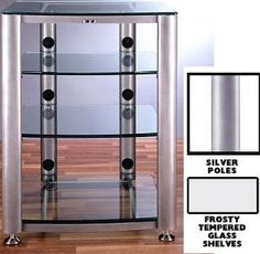 tempered glass bookcase entertainment center | ... home entertainment furniture television stands entertainment centers