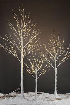 Snowy Silver Birch Wall Hanging Xmas Tree LARGE 6/'4 FOOT TREE