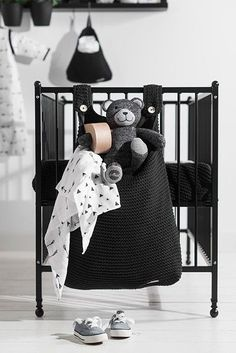 Jollein Boxopbergzak Heavy Knit - Black | Nursery