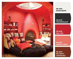 Turn your favorite room scences on Pinterest into a paint color palette for your very own home.