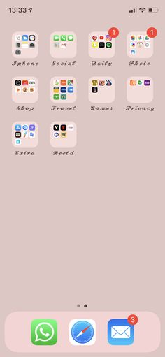 Galaxy Wallpaper, Iphone Wallpaper, Organize Apps On Iphone, Apps For Girls, Cute Themes, Iphone App Layout, Ideas Para Organizar, Phone Organization, Applications