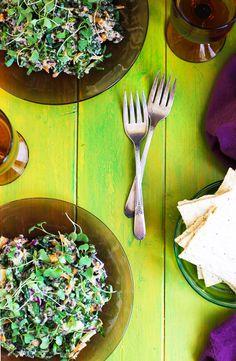 Wild Rice and Kale Salad with Spicy Cauliflower Pesto - CaliZona