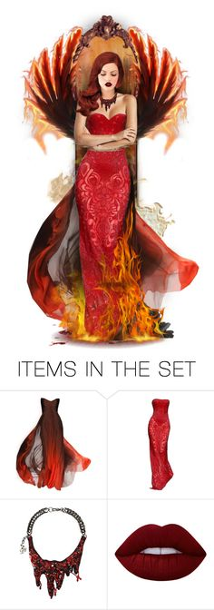 """""""Shades Of Fire"""" by anna-nemesis ❤ liked on Polyvore featuring art"""