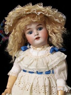 "23"" Precious Antique German Doll Heinrich Handwerck Simon Halbig Excellent Cond 