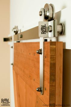 Stainless Prop style Barn Door Hardware - modern - hardware - other metro - by Real Sliding Hardware