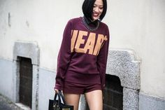 Motif oversized jumper