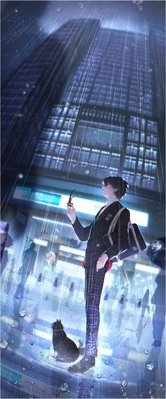 Artist: jean3157 | Shin Megami Tensei: Persona 5 | Kurusu Akira | Morgana