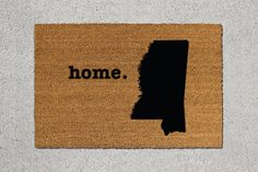 Mississippi Doormat Mississippi Door Mat by TheDoormatory on Etsy
