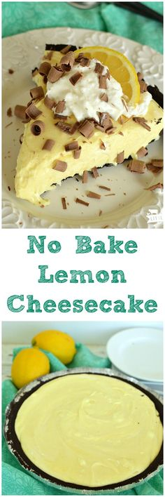 Easy No Bake Lemon Cheesecakeis a fantastic dessert recipe that only takes a few ingredients and few minutes to make! It's failproof!