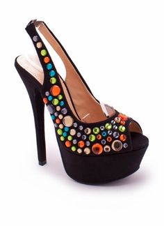gem drop platform sling-backs