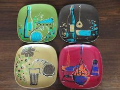VINTAGE RETRO BESSEMER MELAMINE PLATES Back In My Day, Pyrex, Childhood Memories, Mid-century Modern, Retro Vintage, Mid Century, Plates, Patterns, Fun