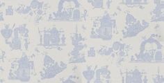 When I Grow Up (WIGU/WP/BL) - PaperBoy Wallpapers - A children's wallpaper which details illustrations of machines doing various things. Shown here in blue colouring - more colours are available. Please request a sample for true colour match.