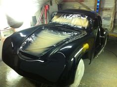 The speedster clinics new 356 coupe body coming along nicely in our workshop