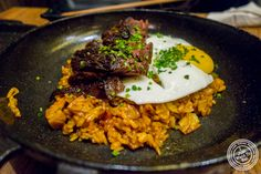 Kimchi fried rice with steak at Osamil in K-Town, NYC, NY